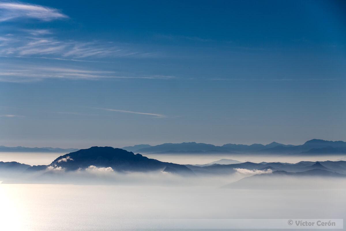 Estrecho de Gibraltar (con el Yebel Musa)